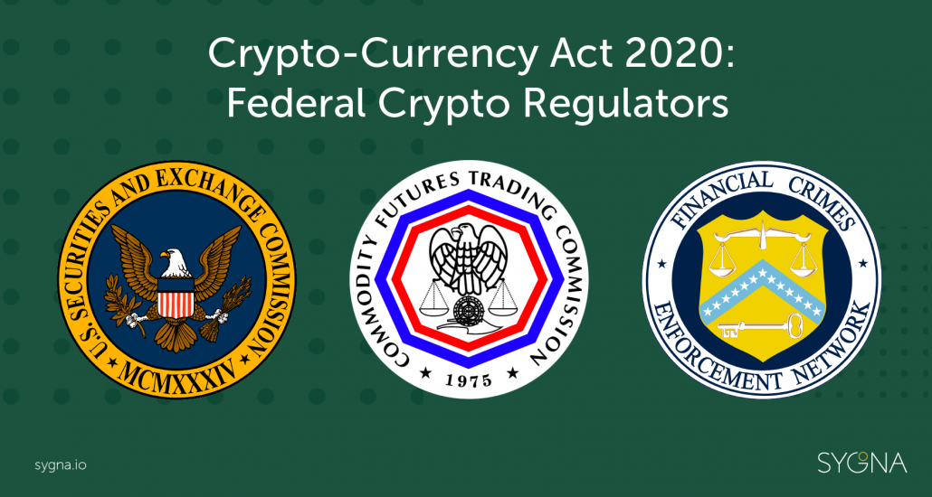"""The 3 """"Federal Crypto Regulators"""" in the U.S.  (link to share)"""