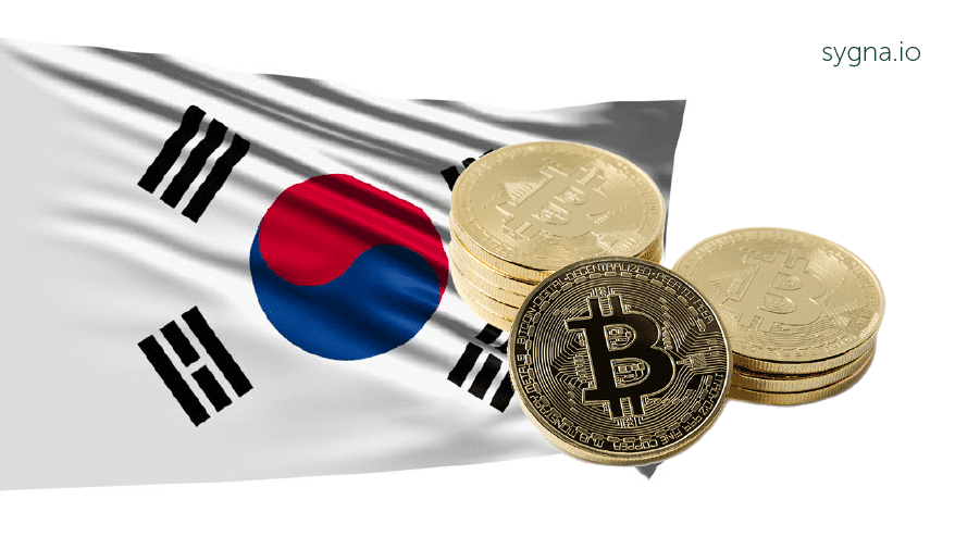 South Korean with Bitcoin icon