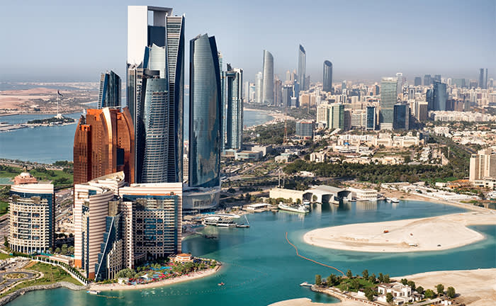 Image of Abu Dhabi's opulent business district