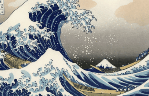 tsunami wave painting