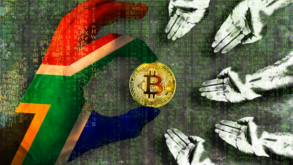 south africa, people holding bitcoin