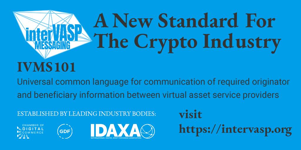 IVMS101 crypto standard for VASPs